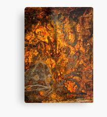 Rusty Abstract Metal Print