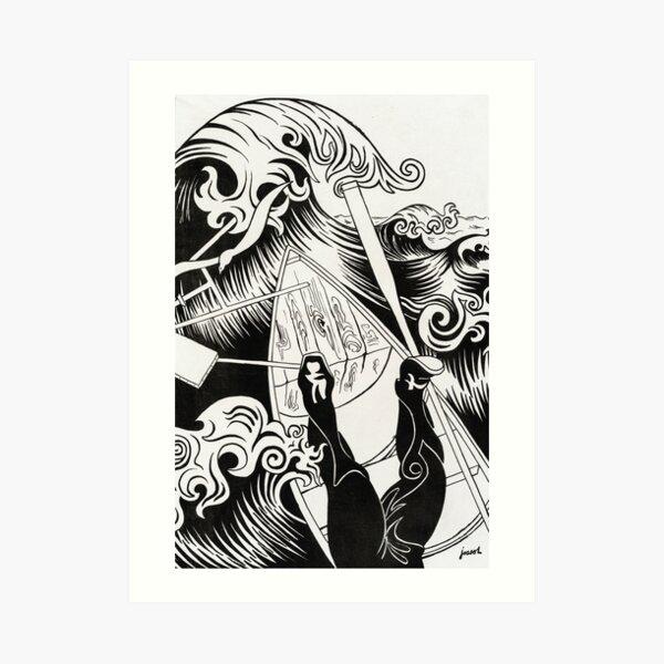 The kraken - Vintage Lithograph Art Print Art Print
