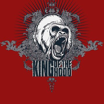King of the Hood! Silverback Gorilla Hood T-Shirt by illmatica