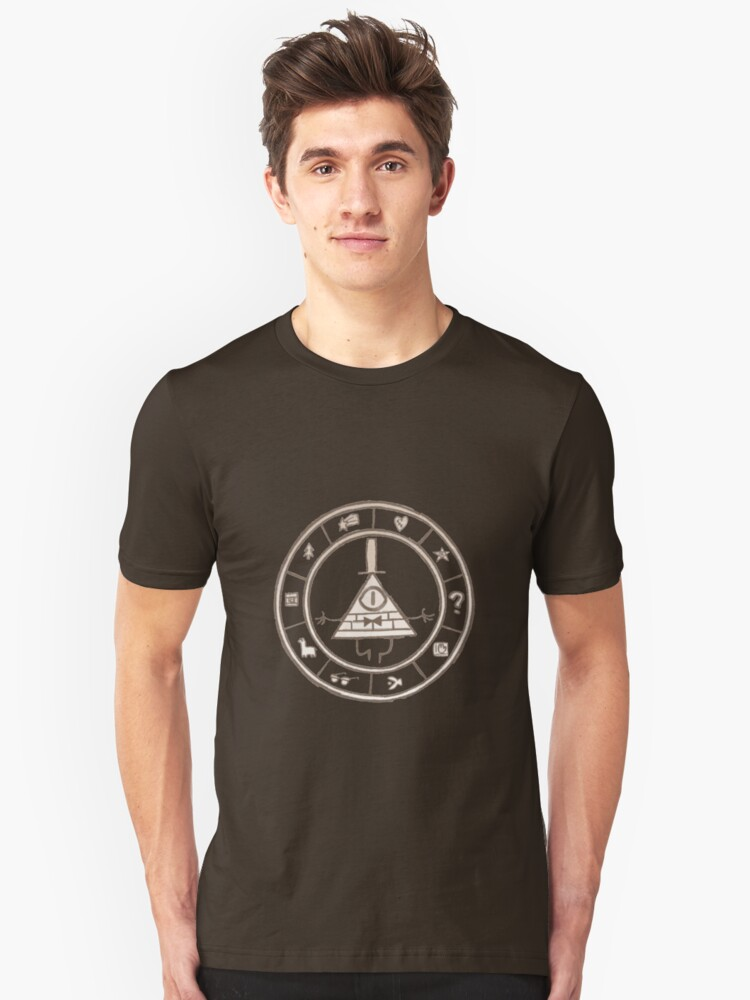 Bill Cipher - Brown Unisex T-Shirt Front