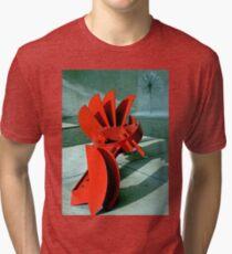 Sculpture in Red Tri-blend T-Shirt