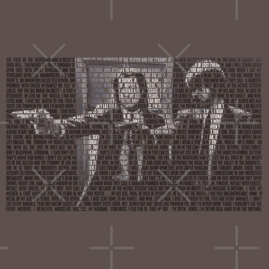 TShirtGifter presents: Pulp Fiction Quotes