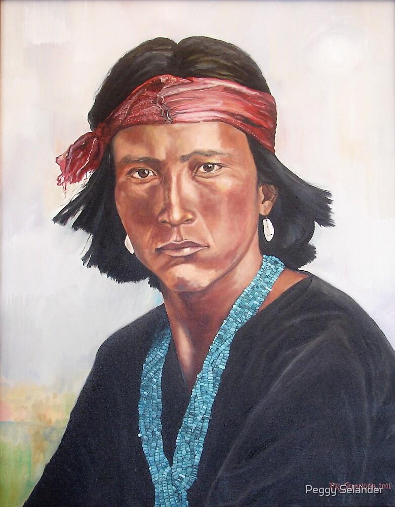 Young Navajo by Peggy Selander