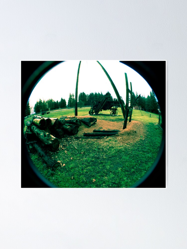 Alternate view of Old Logging Camp and Equipment Poster