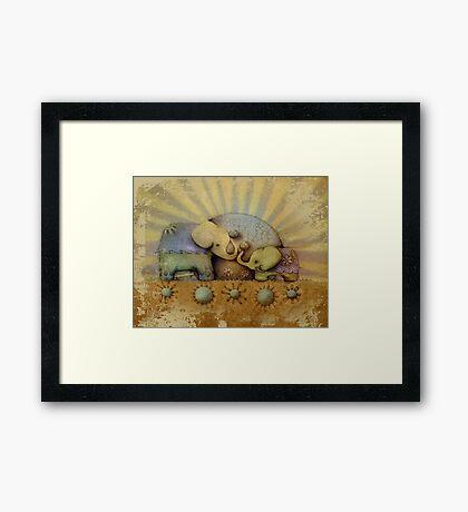 elephant blessing Framed Print