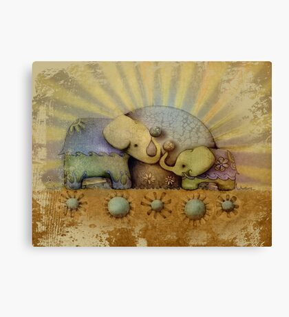 elephant blessing Canvas Print