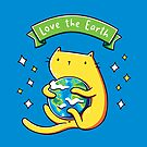 Earth Lover Cat by LydiaLyd