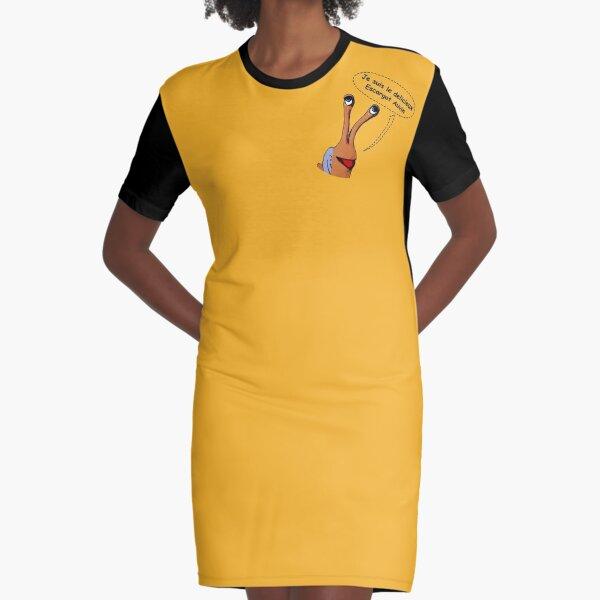 Je suis Escargot Auvin Graphic T-Shirt Dress