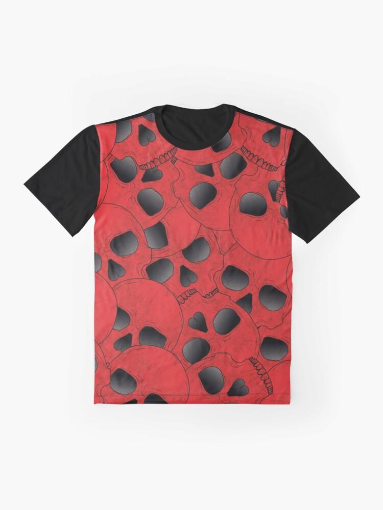 Alternate view of Red Skulls Graphic T-Shirt