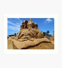 Sand Sculpture Art Print