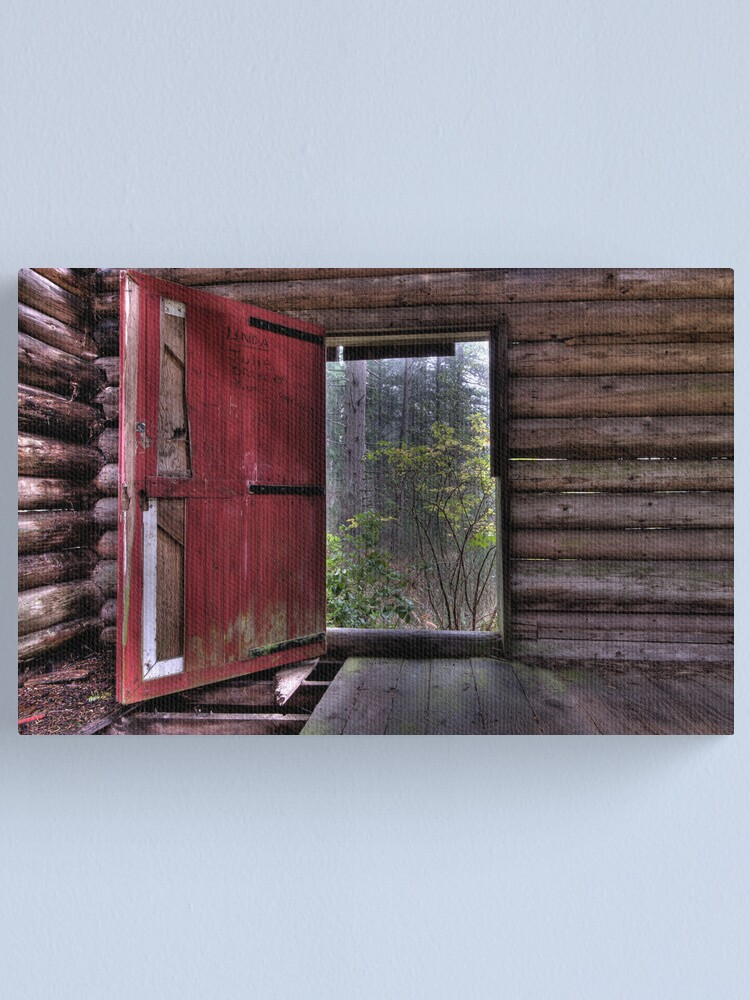 Alternate view of Red Door at the Cabin Canvas Print