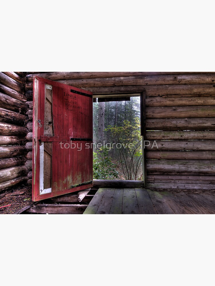 Red Door at the Cabin by tobysnelgrove