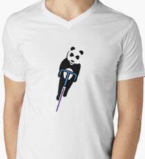 Panda Fixie Men's V-Neck T-Shirt