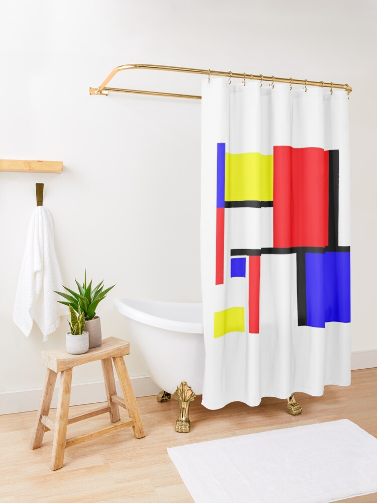 Alternate view of Method in the Mondrian Shower Curtain