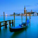 San Giorgio Maggiore  and Gondola - Venice, Italy by Yen Baet