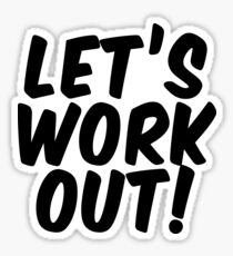 Let's Workout! Sticker