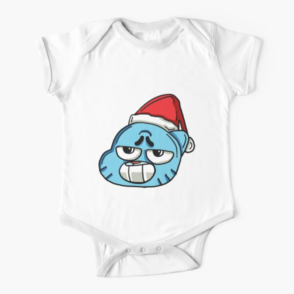 The Amazing World of Gumball™ Christmas Themed Art Short Sleeve Baby One-Piece