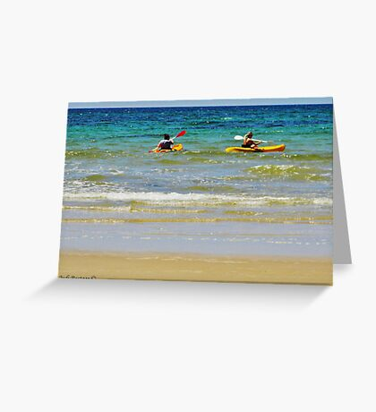 Wave Riding Greeting Card