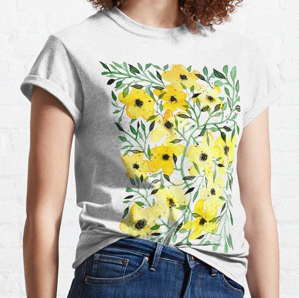 gelbe Blumenranke Classic T-Shirt