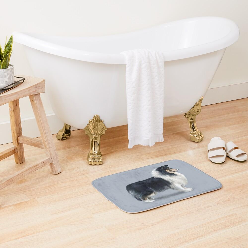 Tri Coloured Rough Collie Bath Mat