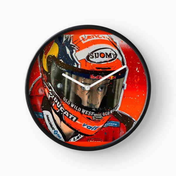 Andrea Dovizioso MotoGP graffiti painting by DRAutoArt Clock