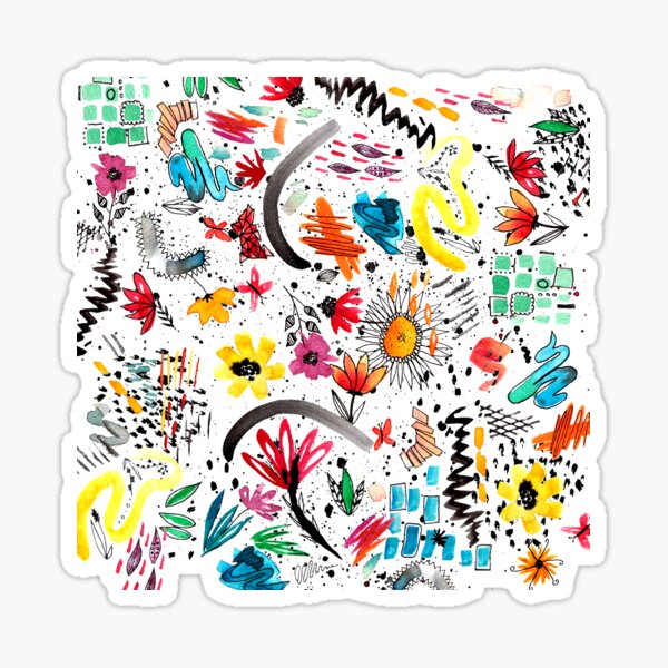 Pinselstrich Sticker
