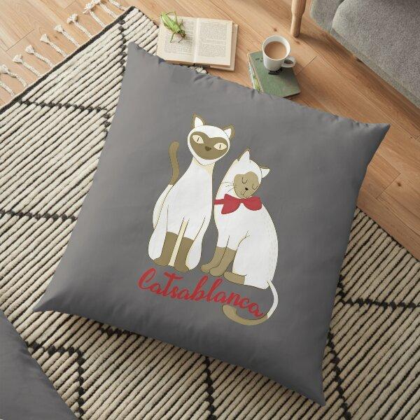 Top Funny Cat Movie Catsablanca Gift Design Floor Pillow