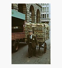 """""""A Heavy Load"""", Covent Garden Market, London, 1973. Photographic Print"""