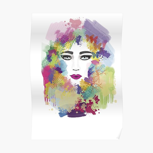 Colorful face Poster