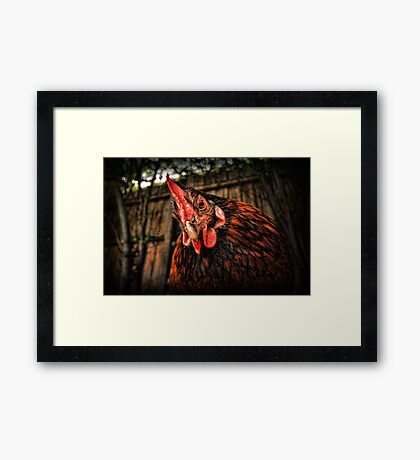 Cage is the cruelist word in the dictionary! Framed Print