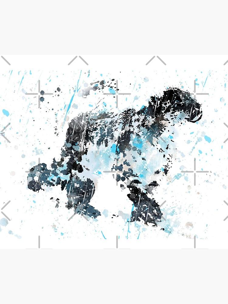 Snow Leopard, watercolor Snow Leopard by Rosaliartbook