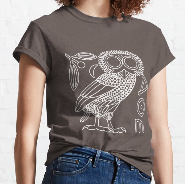 Owl of Athena [White Outline + All] Classic T-Shirt