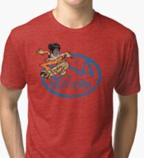 usa new york tshirt skater by rogers bros co Tri-blend T-Shirt