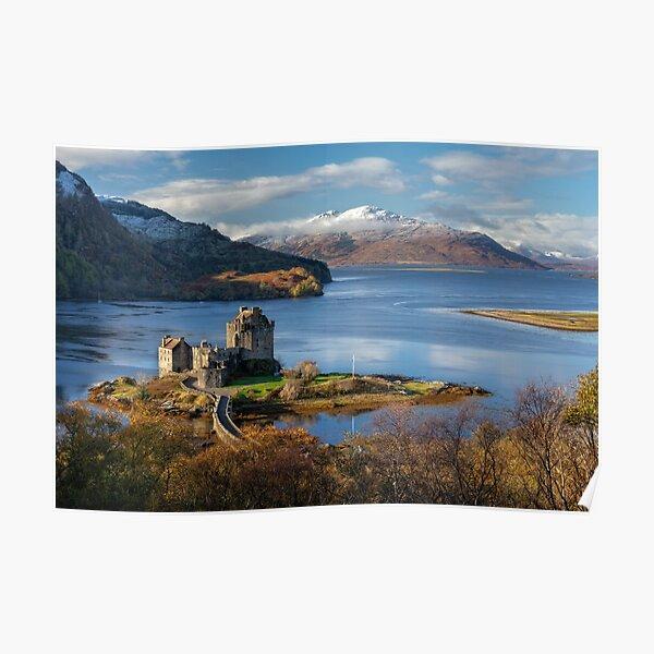 Isle of Skye and Eilean Donan Castle in Autumn. Scotland Poster