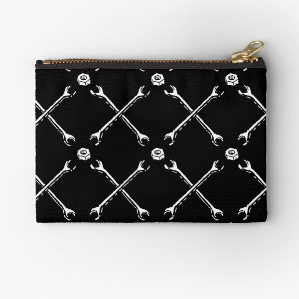 The wrenches and nuts tartan Zipper Pouch