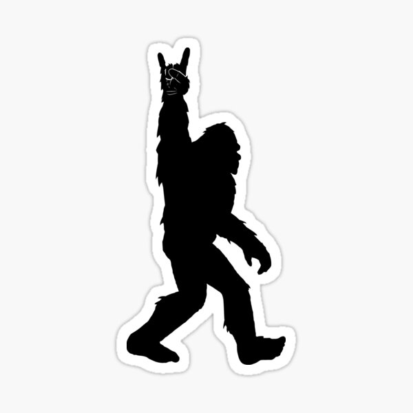 Funny Bigfoot Rock and Roll for Sasquatch Believers Sticker