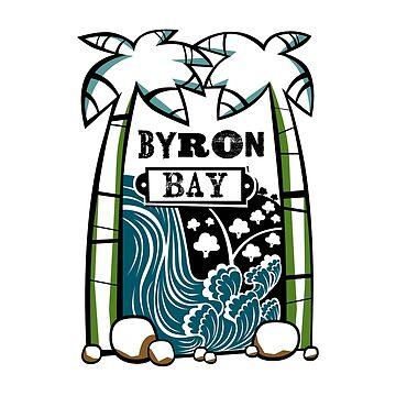 Byron Bay - Tiki Oasis (White) by KirstenChambers