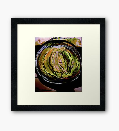watercolor watermelon..... in a patch Framed Print