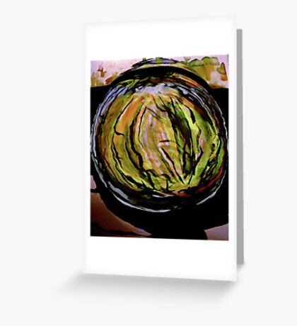 watercolor watermelon..... in a patch Greeting Card
