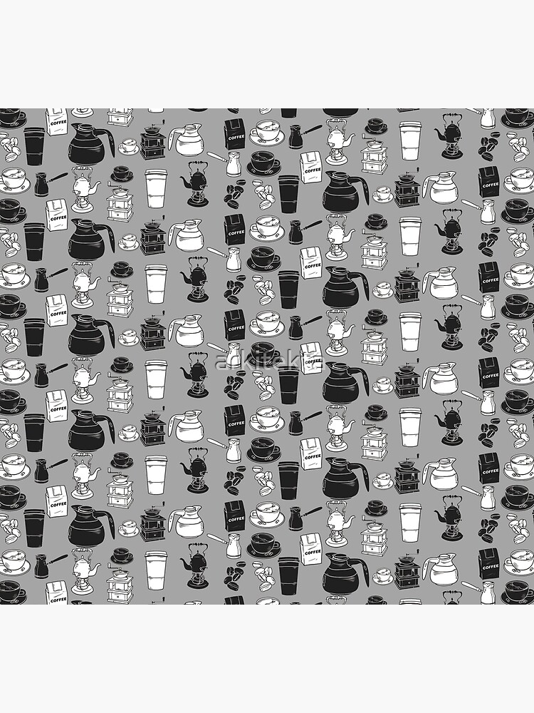 Coffee black and white pattern by arkitekta