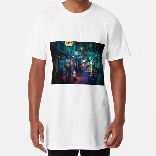 Back into the Dark- Tokyo Night Photo Long T-Shirt