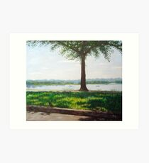 Summer day on the riverside Art Print