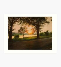 The End of the Day on Riverside Art Print