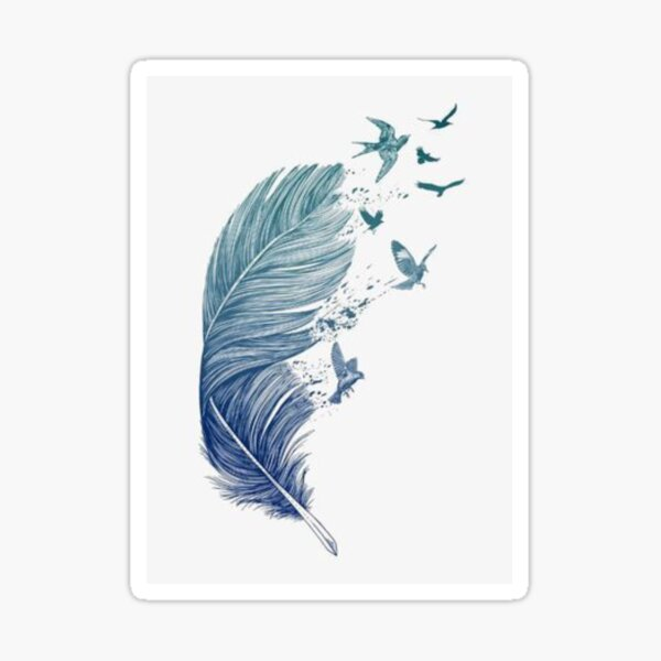 Enchanted feather Sticker