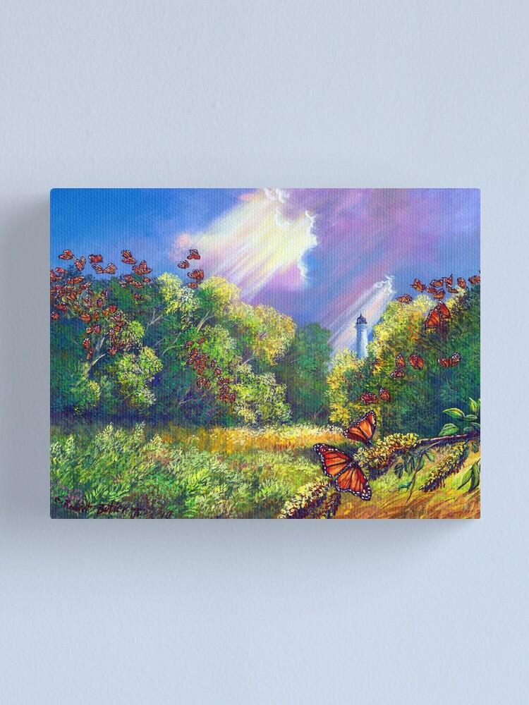 "Alternate view of ""Monarch Protuberance - St. Marks Light"" Canvas Print"
