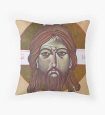 Icona del volto di Cristo Throw Pillow