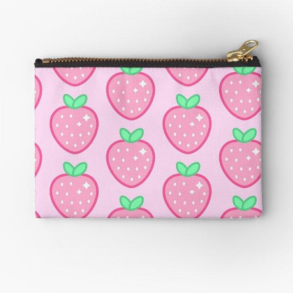 Kawaii Strawberry Anime Sparkle Zipper Pouch