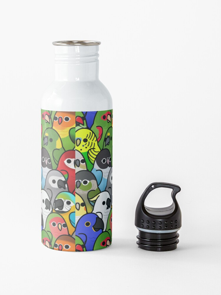 Alternate view of Too Many Birds! Bird Squad 1 Water Bottle