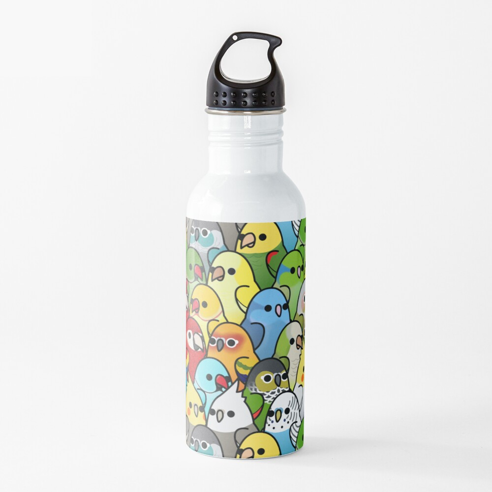 Too Many Birds! Bird Squad 1 Water Bottle