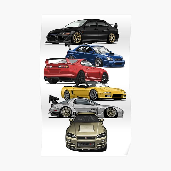 JDM Icons Poster